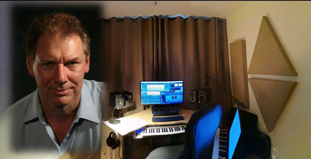 b schmidt with blue i music studio